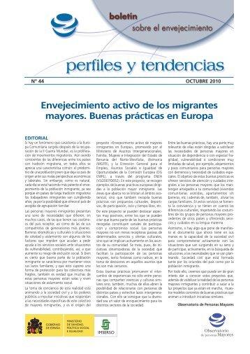 Envejecimiento activo de los migrantes mayores ... - Portal Mayores