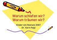 Warum schlafen wir? - Kinder-Uni Rostock