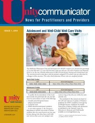 News for Practitioners and Providers - Unity Health Insurance