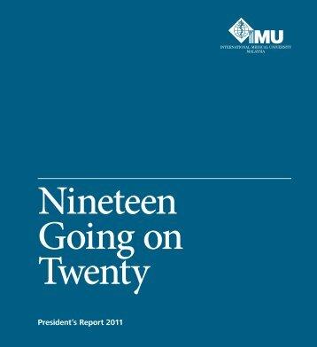 Nineteen Going on Twenty... - International Medical University (IMU)
