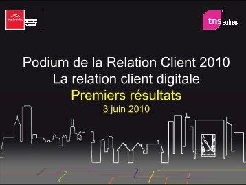 Rapport PODIUM RELATION CLIENT 2010 - TNS Sofres