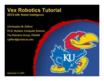 Vex Robotics Tutorial - Center for Remote Sensing of Ice Sheets
