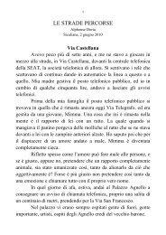 LE STRADE PERCORSE - alphonse doria