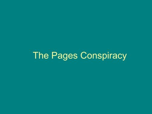 The Pages Conspiracy