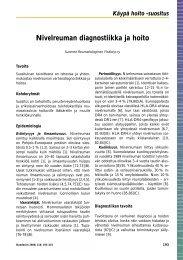 Nivelreuman diagnostiikka ja hoito - Clostridium difficile