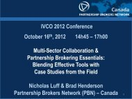 Multi-Sector Collaboration & Partnership Brokering Essentials