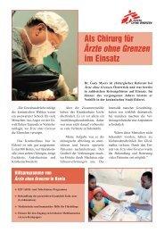Als Chirurg für im Einsatz - Ärzte ohne Grenzen