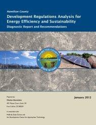 Development Regulations Analysis for Energy Efficiency - Hamilton ...