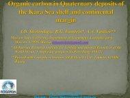 Organic carbon spatial distribution in Quaternary ... - cost pergamon