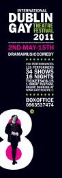 2011 Programme - Dublin Gay Theatre Festival
