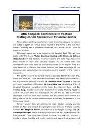 ABA Newsletter – October 2008 - Asian Bankers Association