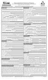 Rental Application for Residents and Occupants - Apartments