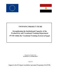 TWINNING PROJECT FICHE Strengthening the Institutional ...