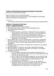 103. Aansluitverordening riolering gemeente Waalwijk 2009