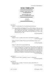 Second List of Amendments