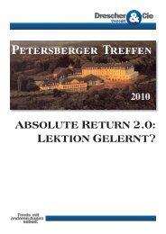 absolute return 2.0: lektion gelernt? - Drescher&Cie GmbH