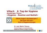 VORGEHEN - 8. Tag der Hygiene