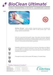 BioClean Ultimate BUPS Product Data Sheet ... - AM Instruments