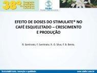 efeito de doses do stimulate® no café esqueletado – crescimento e ...