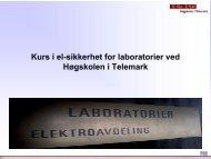 Kurs i el-sikkerhet for laboratorier ved Høgskolen i Telemark