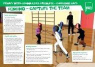 Fencing - capture the team - School Games