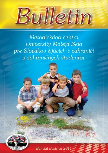 Prvý bulletin MC UMB - Univerzita Mateja Bela