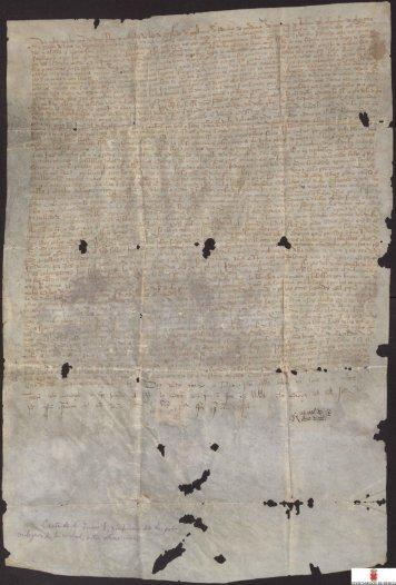 Provisión de Juan I ordenando al adelantado del Reino de Murcia ...