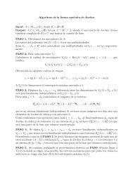 Algoritmo de la forma canónica de Jordan Input: A ∈ M n×n(K ...