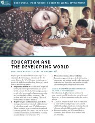Education and the Developing World - Center for Global Development