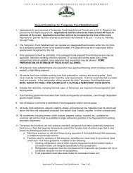 General Guidelines for Temporary Food Establishments - City of ...
