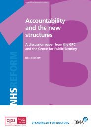 Accountability and the new structures - Centre for Public Scrutiny