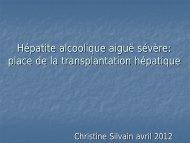 place de la transplantation hépatique