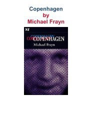 Copenhagen - a play by Michael Frayn
