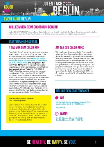 EVENT GUIDE Berlin - Color Run