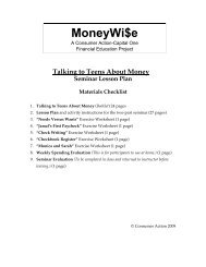 Talking to Teens about Money - Seminar Lesson ... - Consumer Action