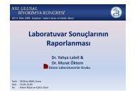 Laboratuvar Sonuçlarının ç Raporlanması - Düzen Laboratuvarlar ...