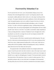 Foreword by Sebastian Coe - Berkshire Publishing Group