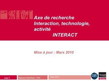 Mars 2010 - Télécom ParisTech