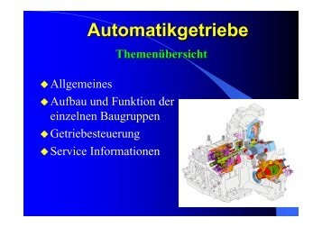 Präsentation Automatikgetriebe - ZAWM