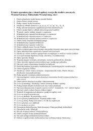 Pytania egzaminacyjne z chemii ogólnej, wersja dla studiów ...