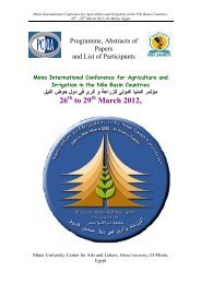 Abstract of papers - Minia International Conference for Agriculture ...