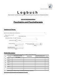 Logbuch FA Psychiatrie und Psychotherapie [PDF] - Ärztekammer ...