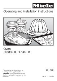 Operating and installation instructions Oven H 5360 B, H 5460 B