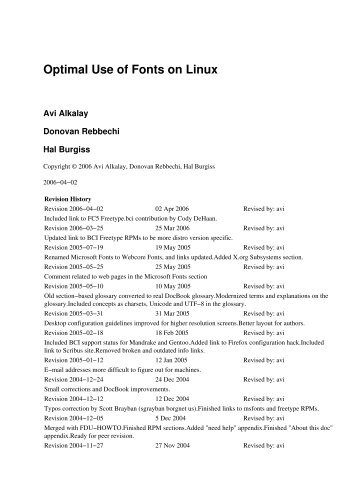 Optimal Use of Fonts on Linux