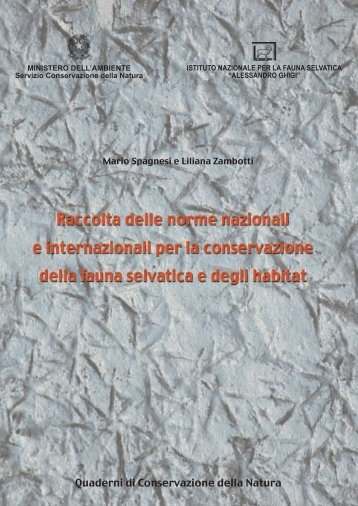 """Collana """"Quaderni di Conservazione della Natura"""". N. 1 ... - Orobievive"""