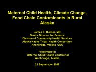 2A - Environmental Threats to MCH - ANTHC