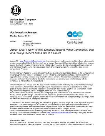 Adrian Steel's New Vehicle Graphic Program Helps Commercial