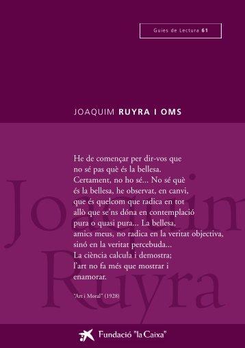 """Ruyra, Joaquim - Obra Social """"la Caixa"""""""