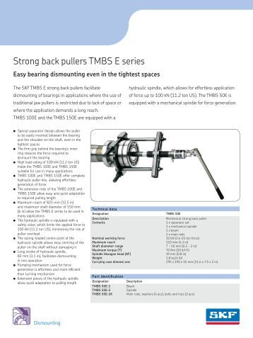 Strong back pullers TMBS E series