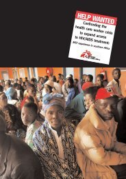 Help Wanted - Médecins Sans Frontières